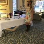 Community Life Director, Marisa Pinner, getting ready for the Women's Club.