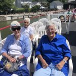 Sandy, Shirley, and Annelies enjoying the beautiful day.