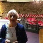 Annette in one of the Basilica chapels