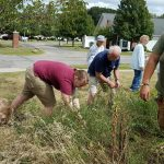 Residents help tidy up the Butterfly Garden